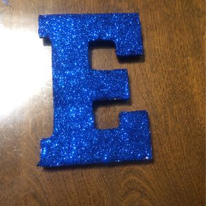 Blue Glittery E for Sale in Compton, CA
