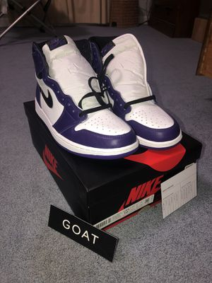 Jordan 1 Court Purple 2.0 Size 10.5 for Sale in Essex, CT