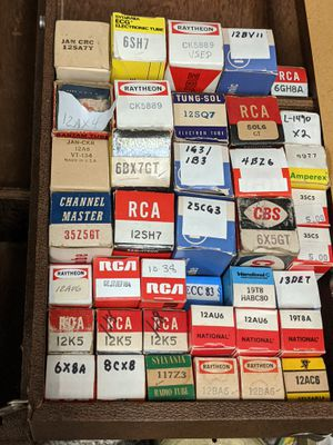 Lot of 39 Vintage Vacuum Tubes - Several Different Sizes and Types, Some Duplicates and a few bigger ones for Sale in Mount Prospect, IL