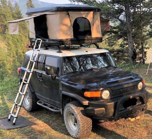 NAVY Pop Up Roof Tent for Cars Trucks SUVs Camping Travel Mobile