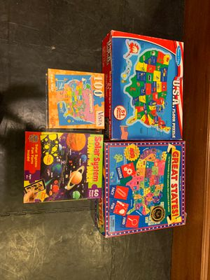 US States and Solar System Puzzles and Games for Sale in Kirkland, WA