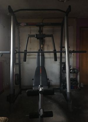 Bench press set for Sale in Montgomery, IL