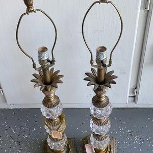 2 Vintage Crystal Lamps for Sale in St. Petersburg, FL