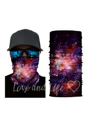 Galaxy stars, neck gaiter, face mask, scarf, head band, shield for Sale in Munford, TN