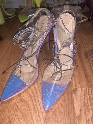 Holographic closed toe heels size 6.5 for Sale in Los Angeles, CA