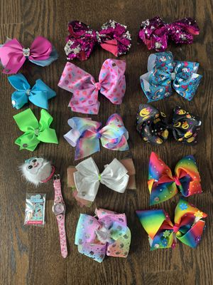 JoJo Siwa Authentic Bows and Hat for Sale in Riverwoods, IL