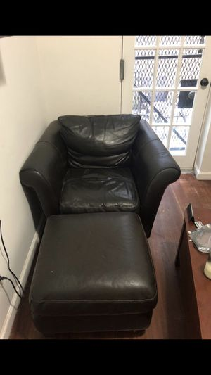 Leather Chair with Ottoman for Sale in New York, NY