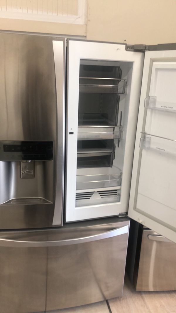 Refrigerator French door with easy access