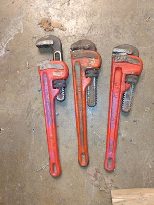 14inch rigid pipe wrenches for Sale in Oak Forest, IL