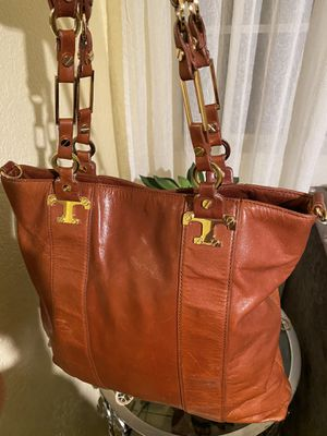 Tory Burch Brown Leather Tote Shoulder Bag for Sale in Moreno Valley, CA