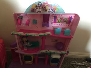 Shopkin mall comes with doll and shopkins for Sale in Las Vegas, NV