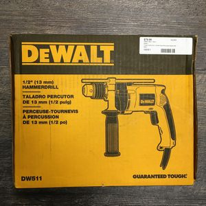 "DeWalt DW511 7.8 Amp Corded 1/2"" Variable Speed Reversible Hammer Drill for Sale in Lynn, MA"