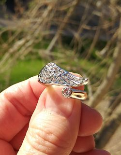 Swarovski Crystal Ring. Shape of a wing. Stainless steel. Like New. for Sale in Phoenix,  AZ