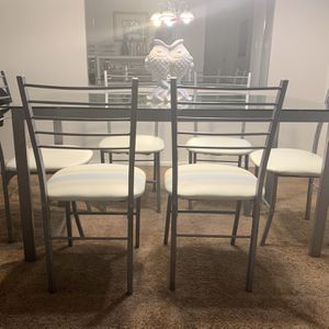 Glass White Table for Sale in Fort Lauderdale, FL
