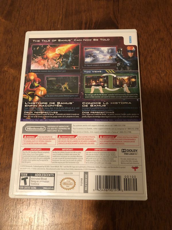 Wii / Wii U Game Metroid Other M