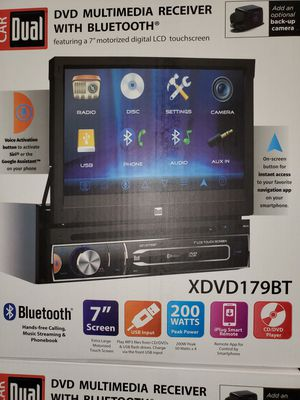 """NEW STEREO DVD MULTIMEDIA RECEIVER,BLUETOOTH,MONITOR 7""""LCD TOUCH SCREEN COLOR,MICROPHONE,NAVIGATION APP,BACKUP CAMARA ADAPTER for Sale in Kissimmee, FL"""