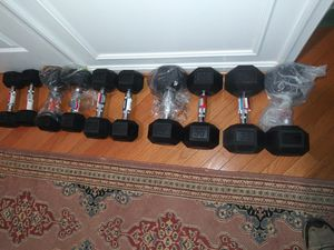 Dumbbells set of 10, 15, 20, 30 and 35 lbs. for Sale in South Riding, VA