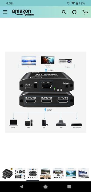 3 way HDMI switch for Sale in South Gate, CA