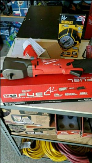 """MILWAUKEE M12 FUEL 3/8"""" RIGHT ANGLE IMPACT WRENCH W/FRICTION RING NEW TOOL ONLY NO BATTERY NO CHARGER for Sale in San Bernardino, CA"""