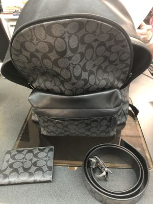 Men's Coach Backpack, Wallet and Belt for Sale in Austin, TX