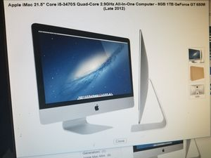 2012 model IMAC all IN 1 DESKTOP COMPUTER. 8GIGS RAM 1 TB. KEYBOARD AND MOUSE INCLUDED for Sale in Los Angeles, CA