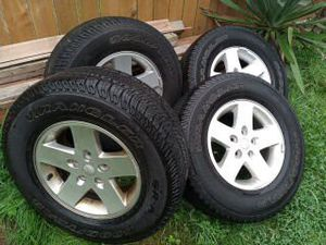 jeep wrangler tires and wheels for Sale in Monroe, WA