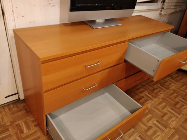 "Like new long dresser with big drawers in great condition, all drawers sliding smoothly. L63""*W18.5""*H30.5"""