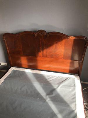 Vintage bed frame and dresser for Sale in Detroit, MI