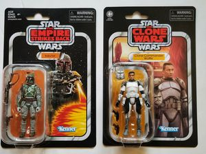 Star wars vintage collection boba fett and Commander wolffe for Sale in Cypress, TX