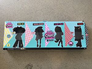 LOL Surprise OMG 4 Pack Complete Collection Series 1 Fashion Dolls 80 Surprises for Sale in Lake Forest, CA