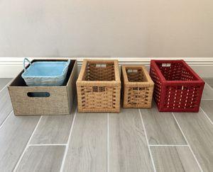 5 Storage Baskets/ Bins for Sale in Seminole, FL
