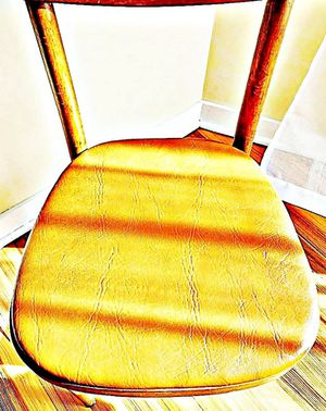 Wooden Shelby Williams Industries MCM chairs (4) with leather seat cushion. for Sale in Yonkers, NY