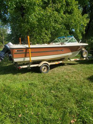 Boat, motor. Trailer for Sale in Wampum, PA