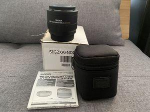 Sigma APO Teleconverter 2x EX DG for Nikon Mount Lenses for Sale in Orlando, FL