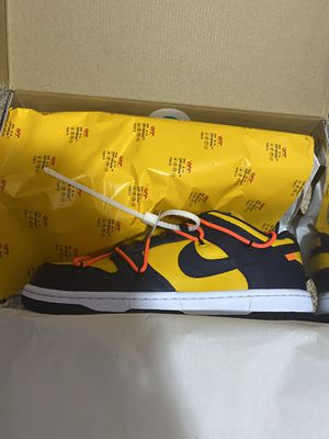 Brand new Deadstock Off-White Nike SB Dunk Low Michigan for Sale in Edmonds, WA