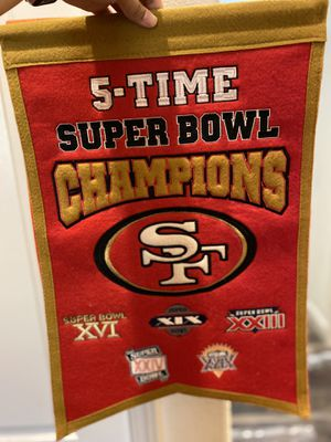 49ers and SF Giants wall pennants for Sale in Fresno, CA