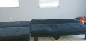 Two nice futons, along with the two dressers comment two twin mattresses for Sale in Etiwanda, CA