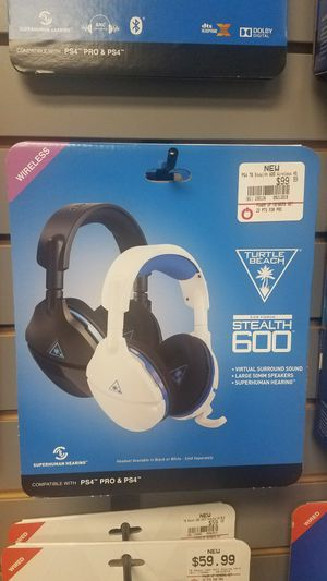 Stealth 600 Wireless Turtle beach headset for PS4 for Sale in Goodlettsville, TN