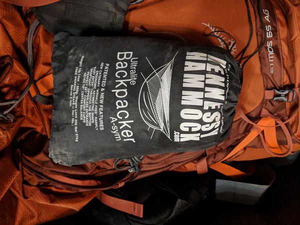 Hennessy Hammock Ultralite Backpacker Asym Zip Hammock