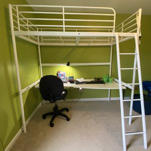 Twin Loft Bed with Desk for Sale in Knightdale, NC