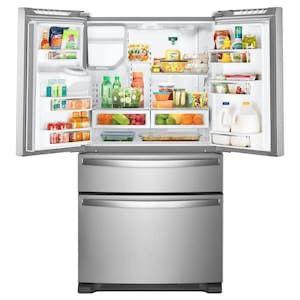Whirlpool 24.5-cu ft 4-Door French Door Refrigerator with Ice Maker (Fingerprint-Resistant Stainless Steel) ENERGY STAR for Sale in Nashville, TN