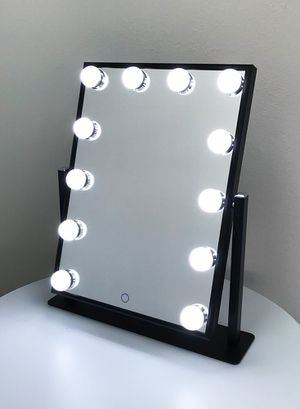 """New $70 each Vanity Mirror 12 Dimmable Light Bulbs Hollywood Beauty Makeup, 16""""x12"""" for Sale in South El Monte, CA"""