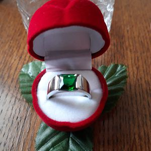 Emerald green blue Sappire ring for Sale in Elizabeth, PA
