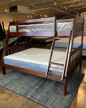 Twin over full bunk bed plus mattress (free delivery) for Sale in Austin, TX