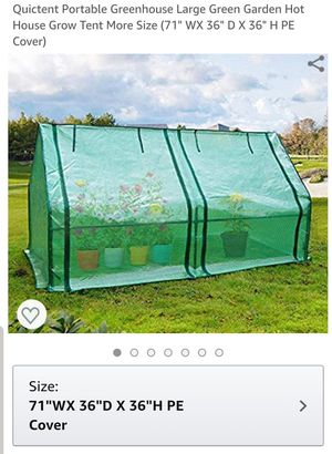 """Quictent Portable Greenhouse Large Green Garden Hot House Grow Tent More Size (71"""" WX 36"""" D X 36"""" H PE Cover) for Sale in Long Beach, CA"""