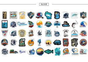 Fishing stickers 50pc for Sale in Paramount, CA