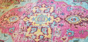 Boho area rug- vibrant colors for Sale in Kent, WA