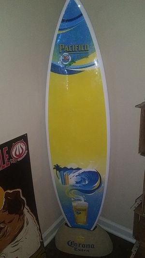 Corona/Pacifico surfboard and rock stand for Sale in Nashville, TN