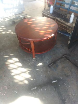 Super awesome round wood table for Sale in Phoenix, AZ