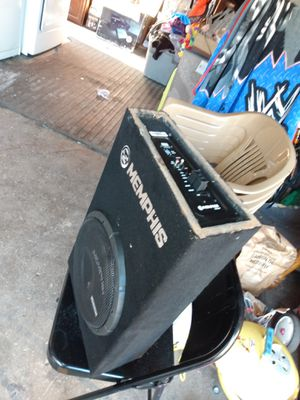 Memphis 12-in with amplifier built-in for Sale in Stockton, CA
